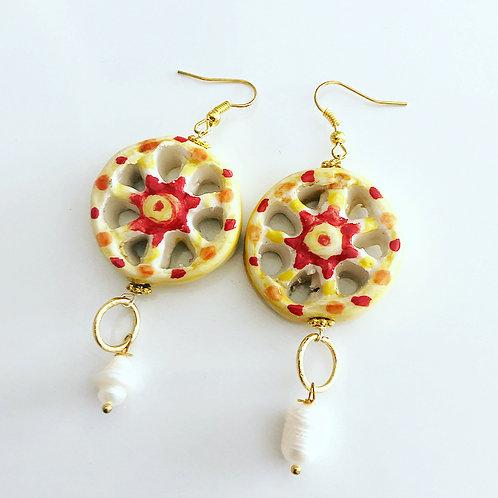 Handmade Earrings Sicilian Wheel