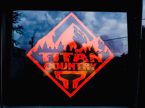 OFFICIAL Titan Country Decal