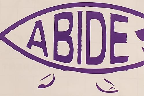 Abide Fish The Big Lebowski Decal