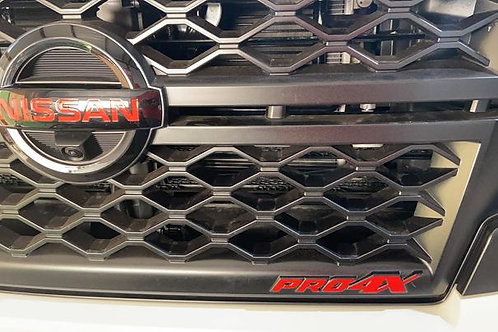 2020-21 Titan PRO4X Grill and Tailgate Overlays - PRO4X ONLY