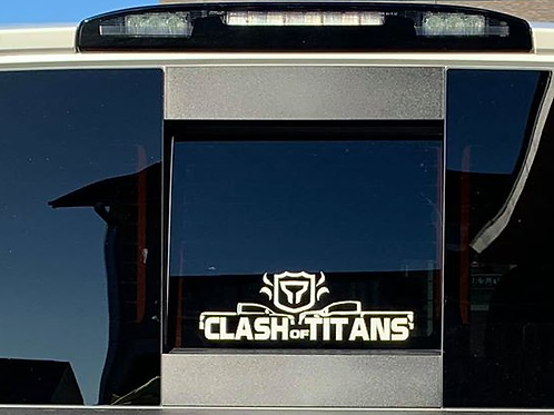 OFFICIAL Clash of Titans Vinyl Decal