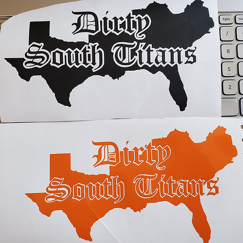 Official Dirty South Titans Decal