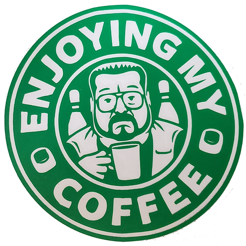 Walter Sobchak The Big Lebowski Coffee Starbucks Decal Sticker