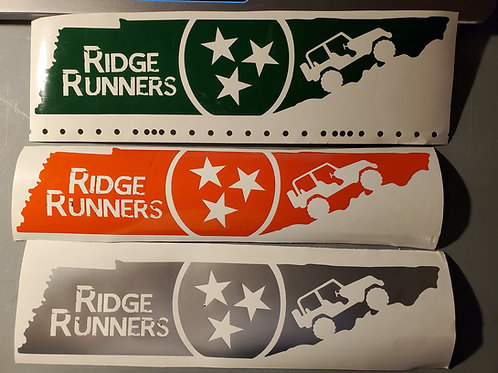 RIDGE RUNNERS Jeep Club of Tennessee Decal