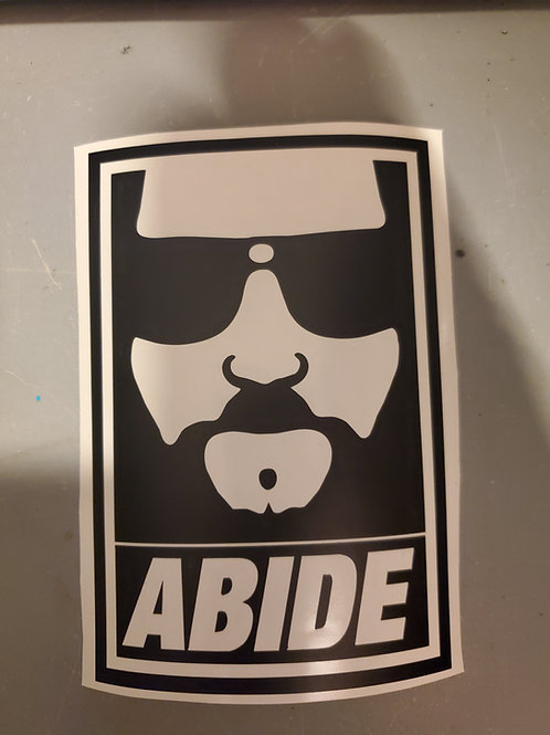 Abide The Dude The Big Lebowski Decal