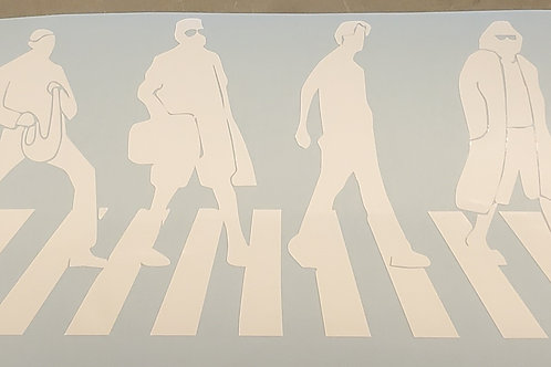 The Big Lebowski Abbey Road Beatles Decal