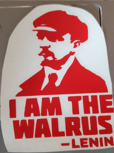 Lenin I Am The Walrus The Big Lebowski Beatles Decal Sticker