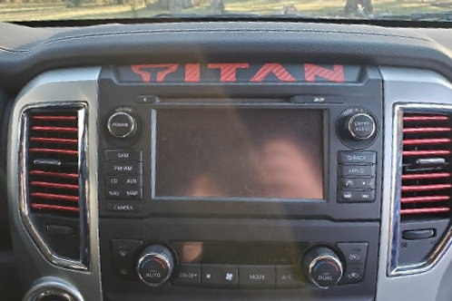 Nissan TITAN Radio Decal