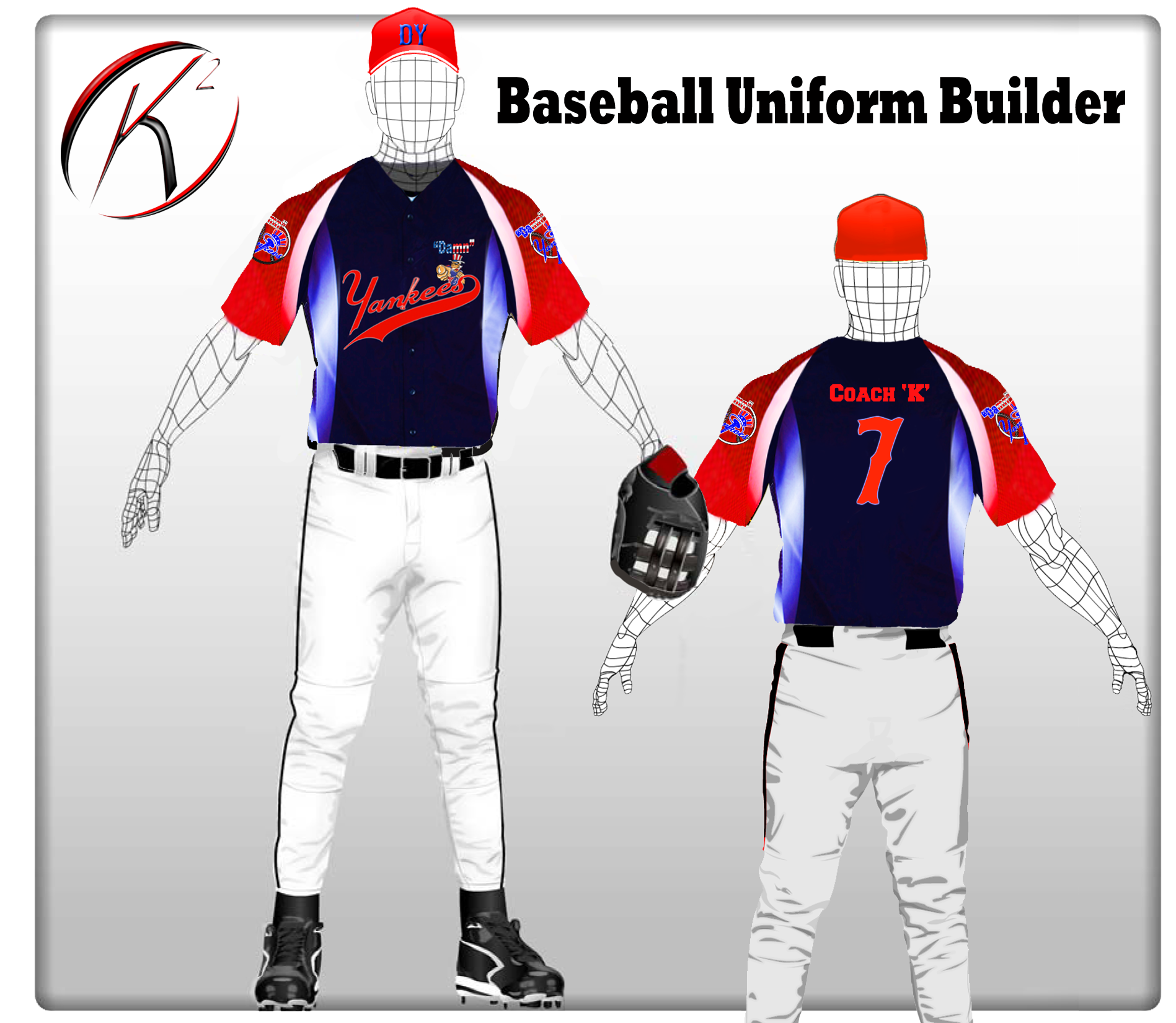 K2 - Baseball Uniform Builder