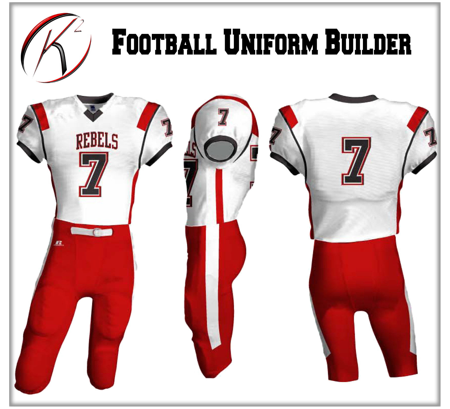 K2 - Football Uniform Builder