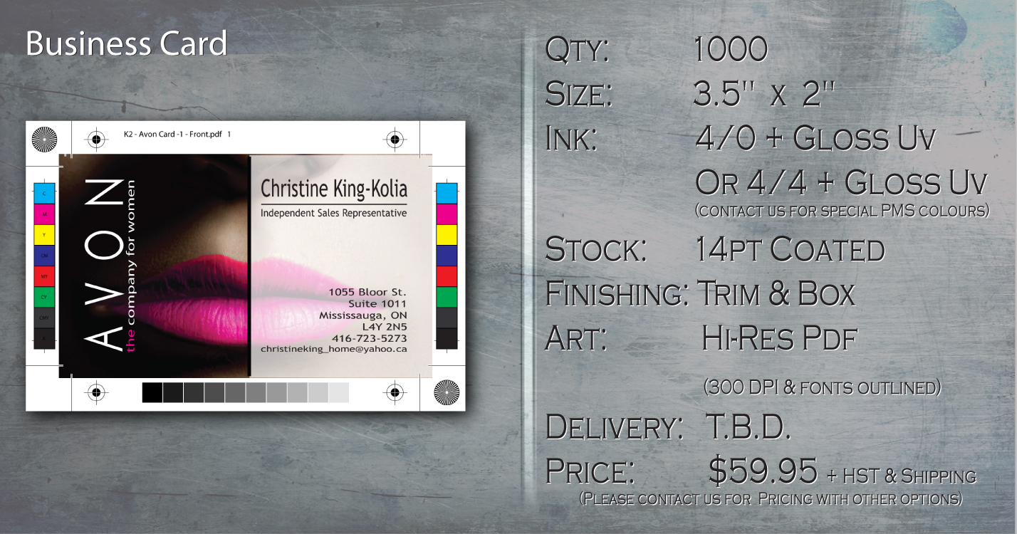 K2 - Business Card Special