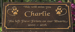 Pet Memorial Plaque 1