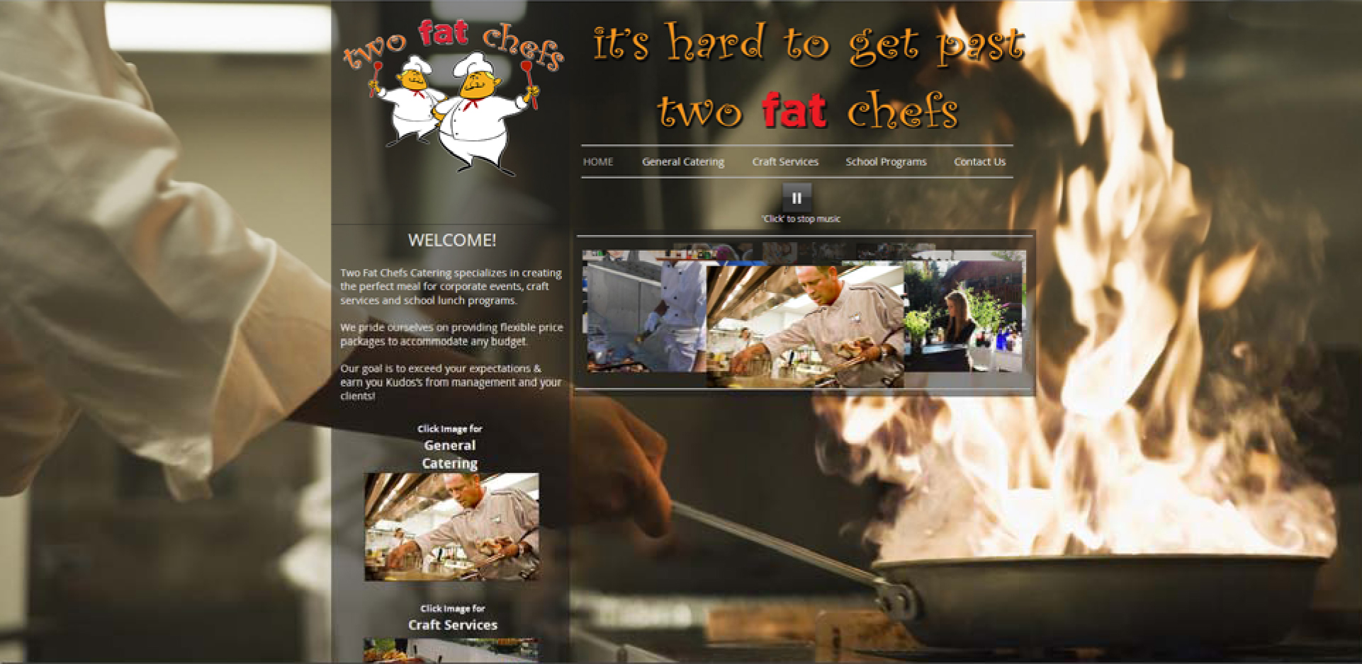 Two Fat Chefs Website