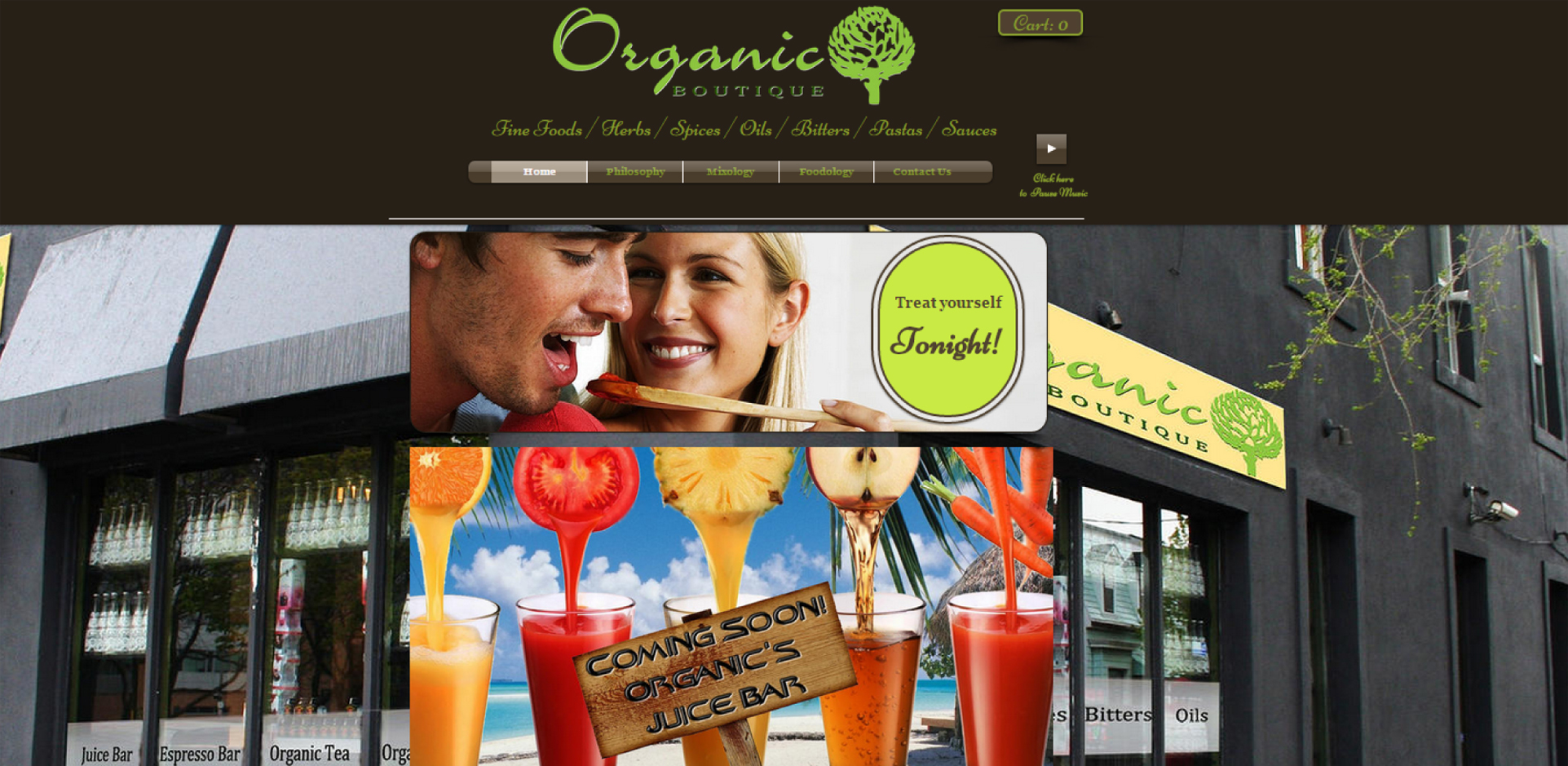 Organic Boutique Website