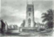 sketch of Lyng Church 1839 by John Buckl