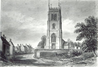 sketch of Lyng Church 1839 by John Buckl