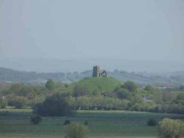 Burrow Mump from the Church Tower