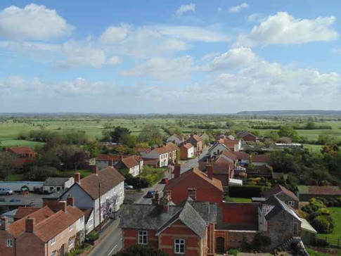 East Lyng from the Church Tower