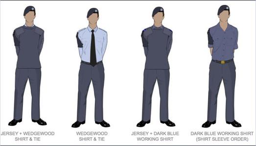Male Blue Uniform
