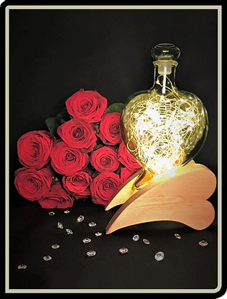 Heart Bottle and Stand