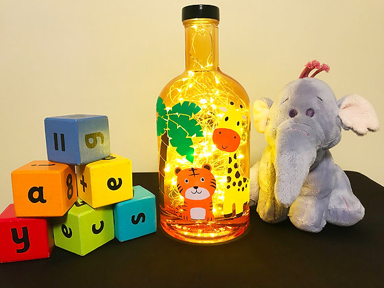 Children's Jungle Bottle Light
