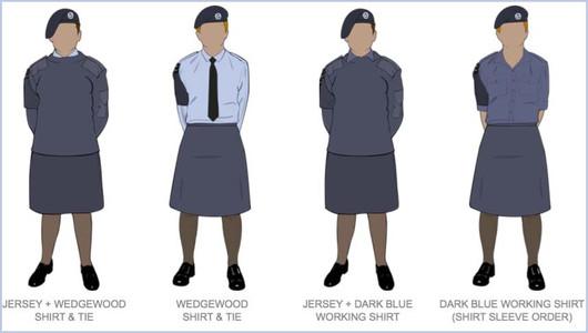 Female Blue Uniform