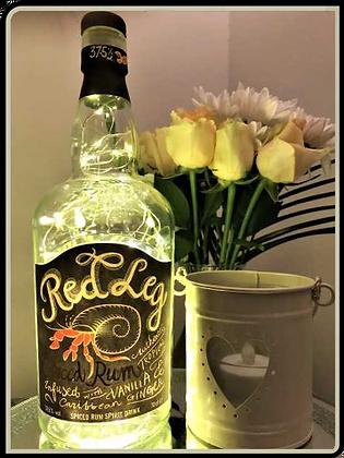 Red Leg Rum Bottle