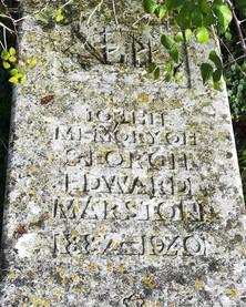 George Marston's grave