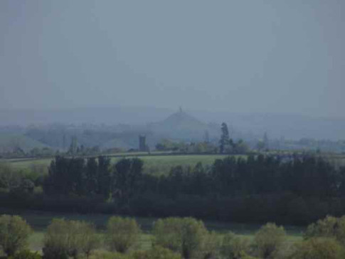Glastonbury Tor from East Lyng Church Tower