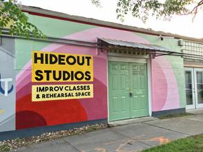 Hideout Studios Exterior Mural