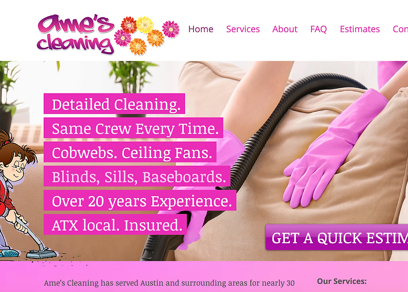 Ame's Cleaning Website Screenshot.png