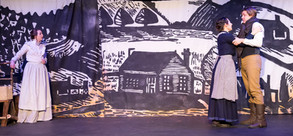 Wood Black Print Style Mural