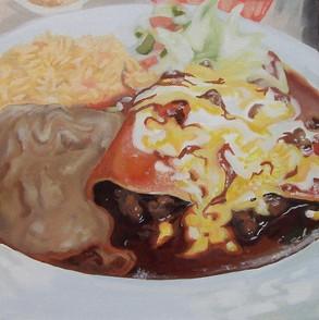 Enchilada Oil Painting