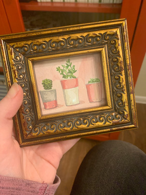 Mini Painting of Succulents