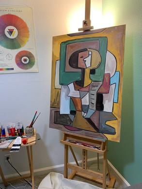 Fauz-Casso (A Faux Picasso Prop) Acrylic on Canvas