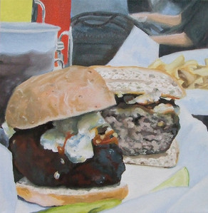 Burger Oil Painting