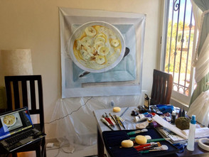 Large Wall Tapestry in Process