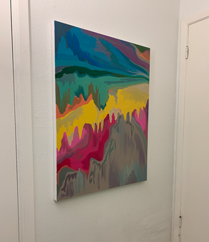 Ooze - Abstract Acrylic Commission