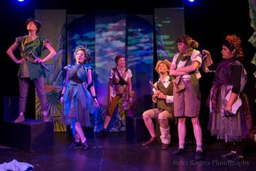 Actors on Peter Pan Set