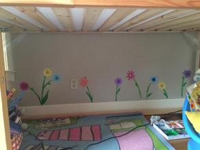 Under Bunk Bed Flowers