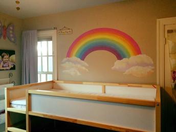 Rainbow Kids Room Mural
