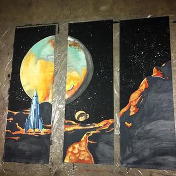Space Design (9' tall) in progress