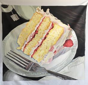 Raspberry Cake Painting (Large)