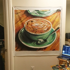 Melbourne Coffee Painting (Large)