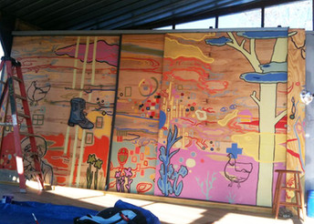 Outdoor Whimsical Mural View 2