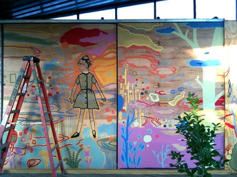 Outdoor Whimsical Mural View 1