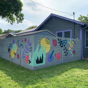 Custom South Austin Fence Mural