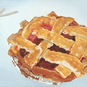 Cherry Pie Oil Painting