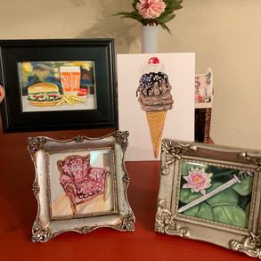 Four Custom Mini Paintings