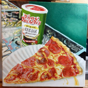Conans Pizza Oil Painting Commission